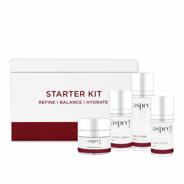 Starter Kit Aspect Dr with products
